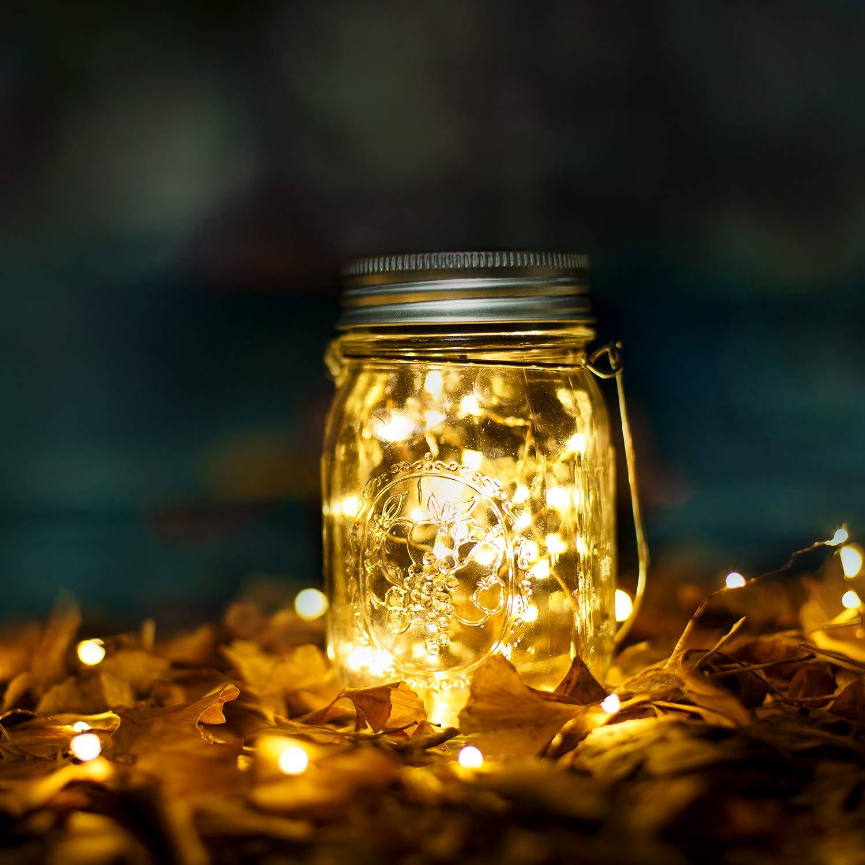 Lanterne en verre solaire en acier inoxydable