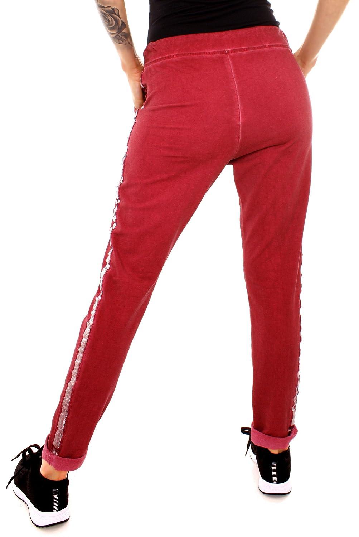 Damen Sweat Sport Relax Hose Sweatpants Jogginghose Joggpants Jogger Lang  Stern Silber Glitzer Seitenstreifen 678066bd9e
