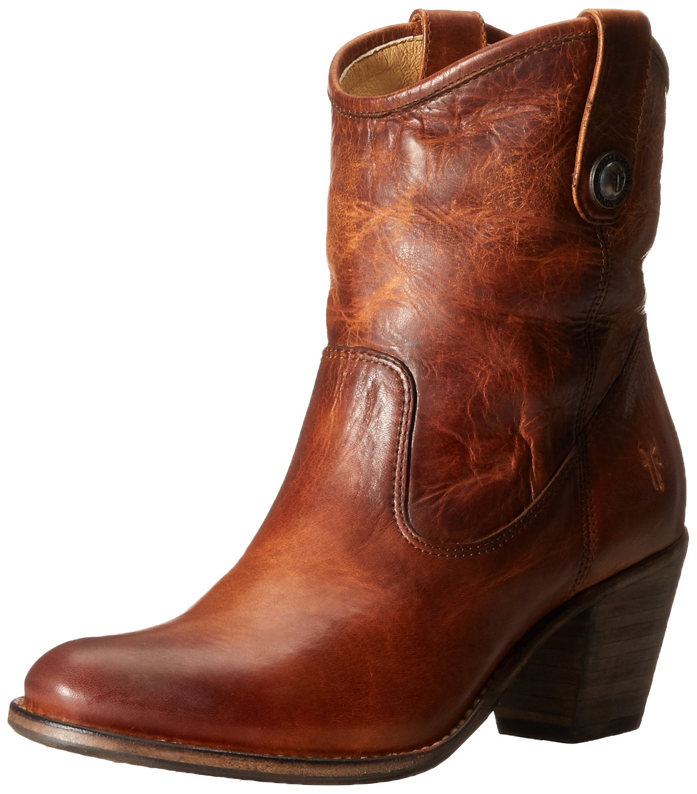 FRYE Women's Jackie Button Short Boot, Cognac, 6 M US