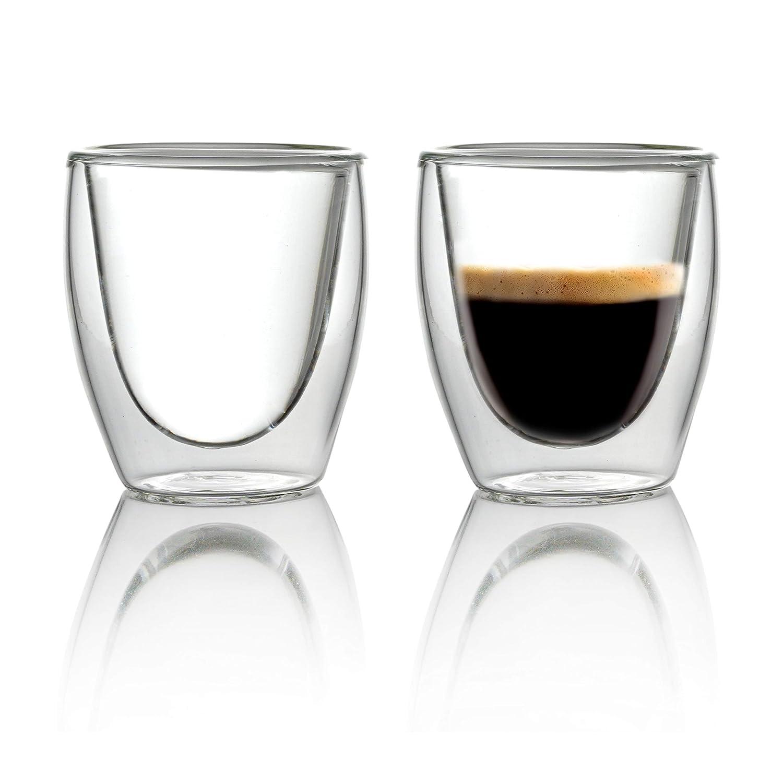 Caffé Italia Torino 6 x 60 ml Double Wall Thermo Glasses - für Latte Macchiato Tea Hot and Cold Drinks - dishwasher safe iLP GmbH