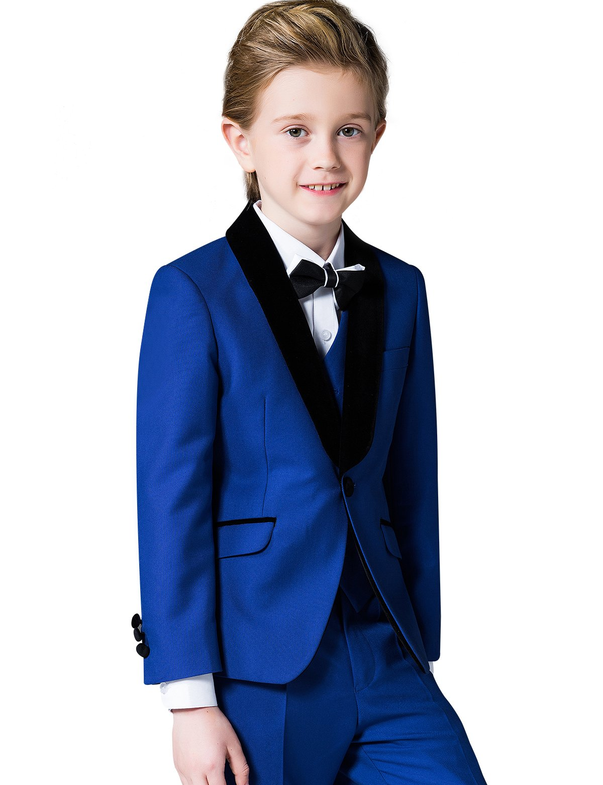 ELPA ELPA Boys Suit 6 Piece Slim Fit Formal Dresswear Set