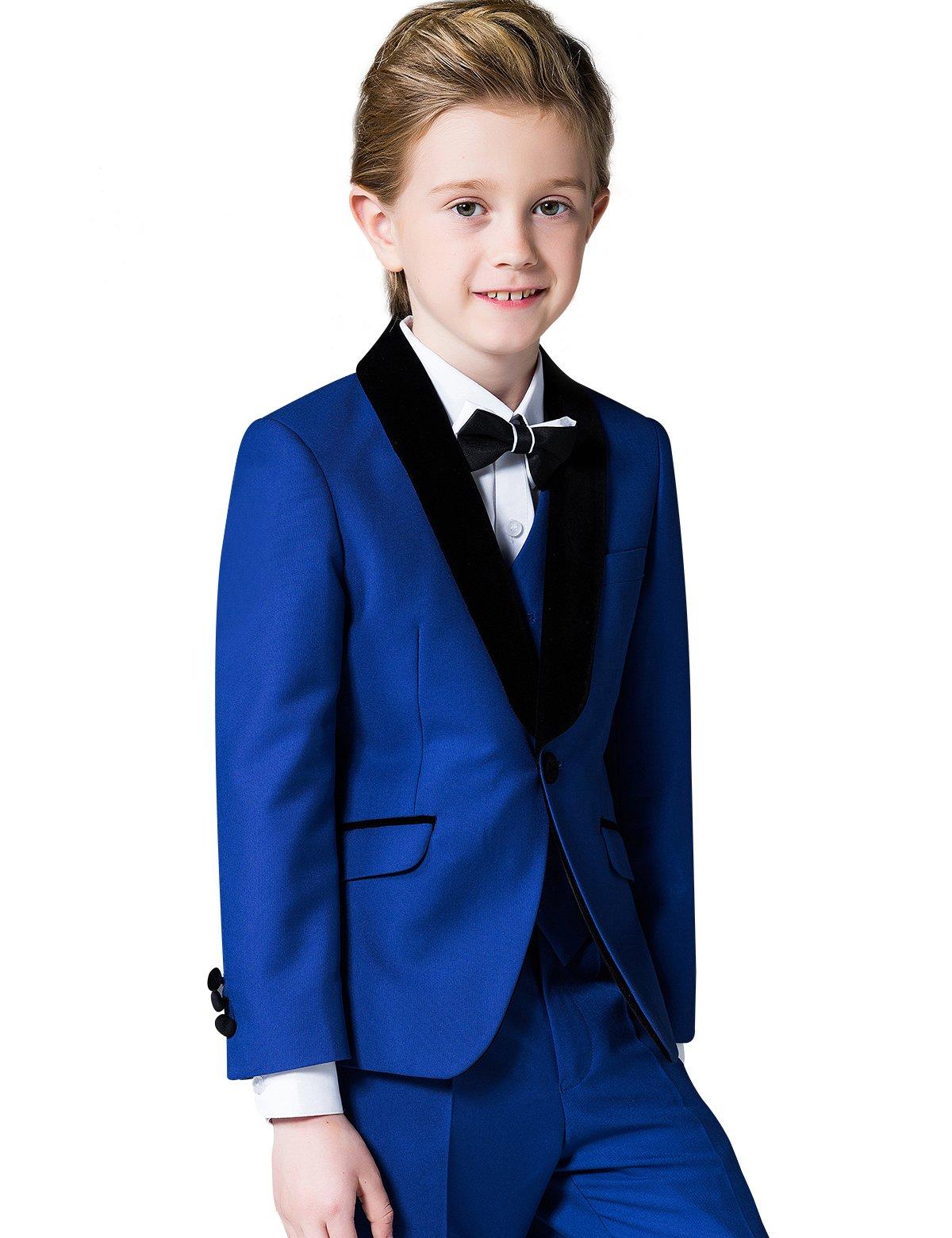 ELPA ELPA Children Suit Solid Color Big Boy 5 Set Boys Wedding Outfits Suits for Teenage