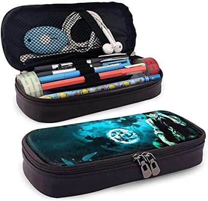 Estuche de lápices de cuero de nuevo diseño Estuche de papelería escolar Estuche de lápices personalizado Ghoul de Tokio, Estuche de maquillaje, Estuche de herramientas: Amazon.es: Oficina y papelería