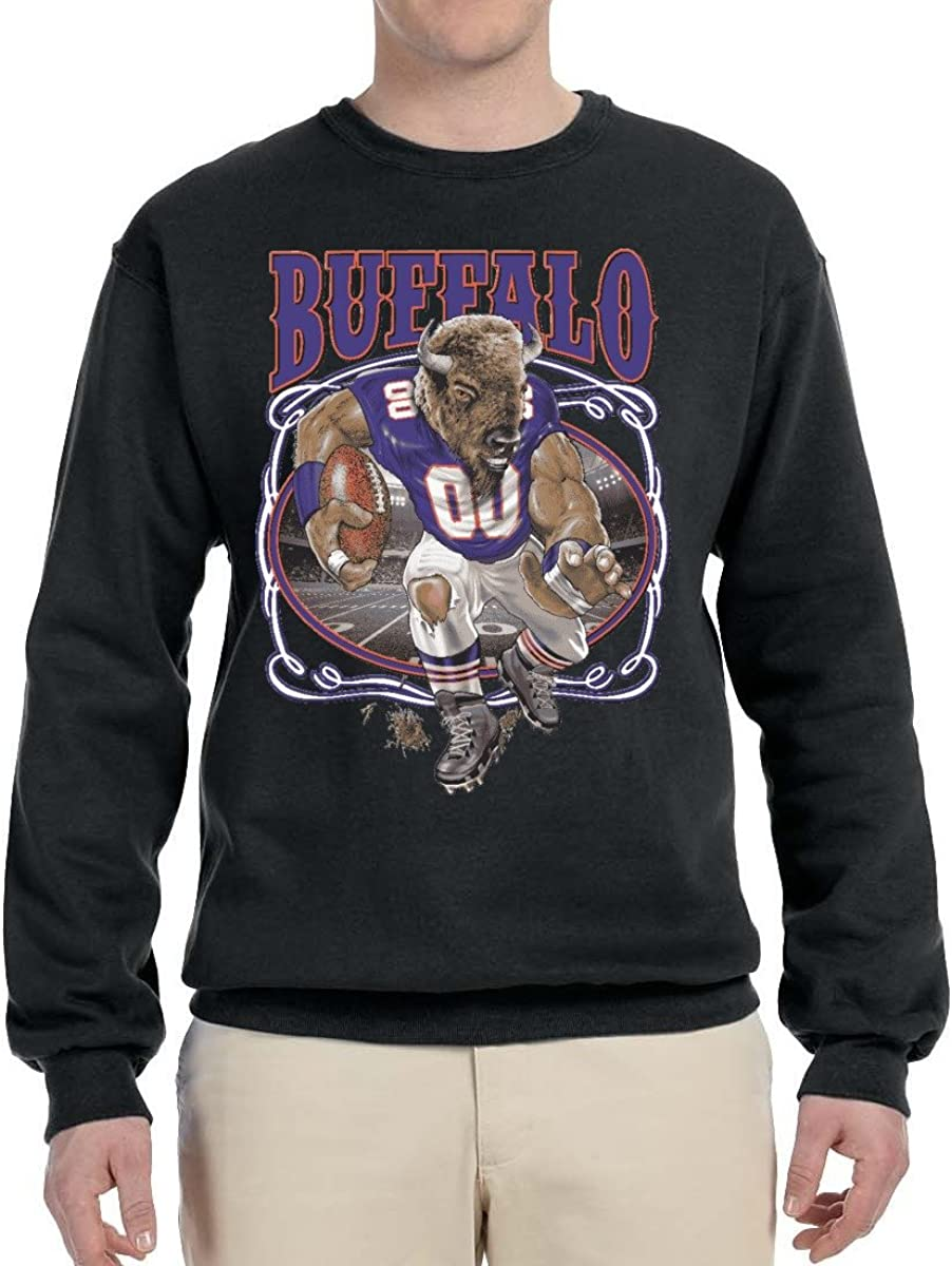 Buffalo Fan   BUF Fantasy Football   Mens Sports Crewneck Graphic Sweatshirt