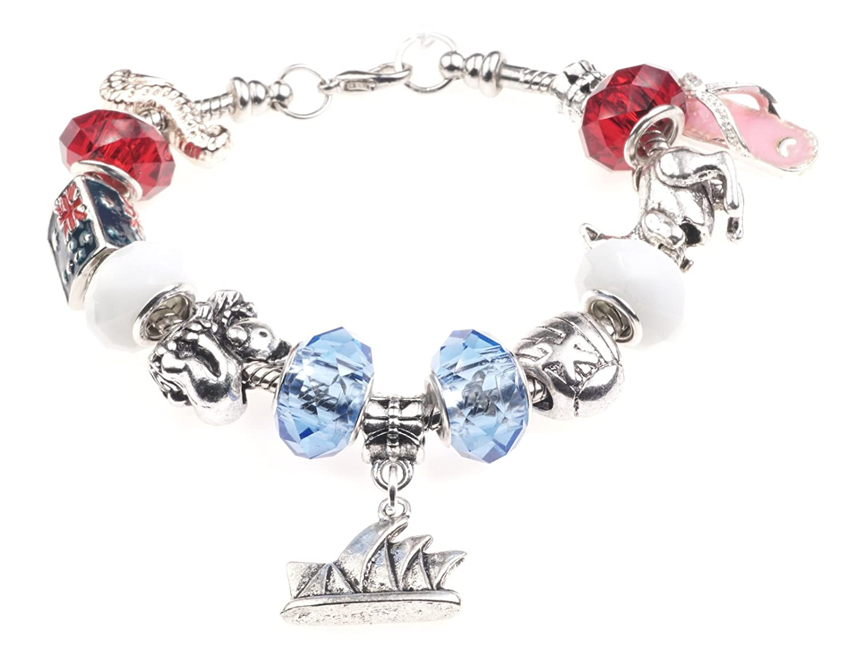 Down Under Australie Bracelet à breloques avec boîte cadeau de bijoux pour femme Jewellery Hut BRAustralia
