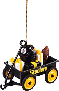 Team Sports America Pittsburgh Steelers NFL Team Wagon Ornament Christmas and Decor for Football Fans