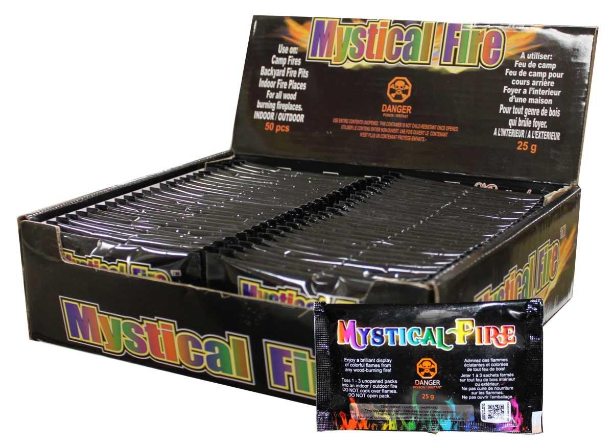 Mystical Fire キャンプファイヤー 暖炉 着色剤パック B00KMASB4U 50 Pack|Mystical Fire Mystical Fire 50 Pack