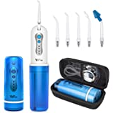 Cordless Water Flosser, YaFex Portable Water Teeth Cleaner Pick with Case, DIY Mode, 5 Jets, Rechargeable IPX7 Waterproof Ora