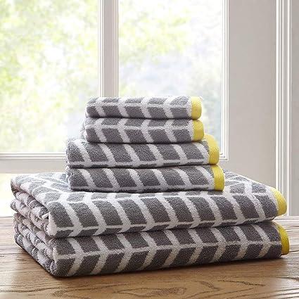 Huya 100 Baumwolle Handtuch Sets Bad Geometrisches