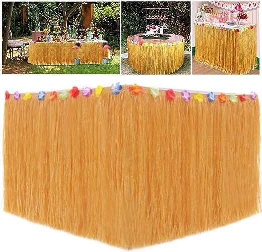Xinlie Hawaiano Luau Falda de Mesa Decoración de Fiesta Tropical ...