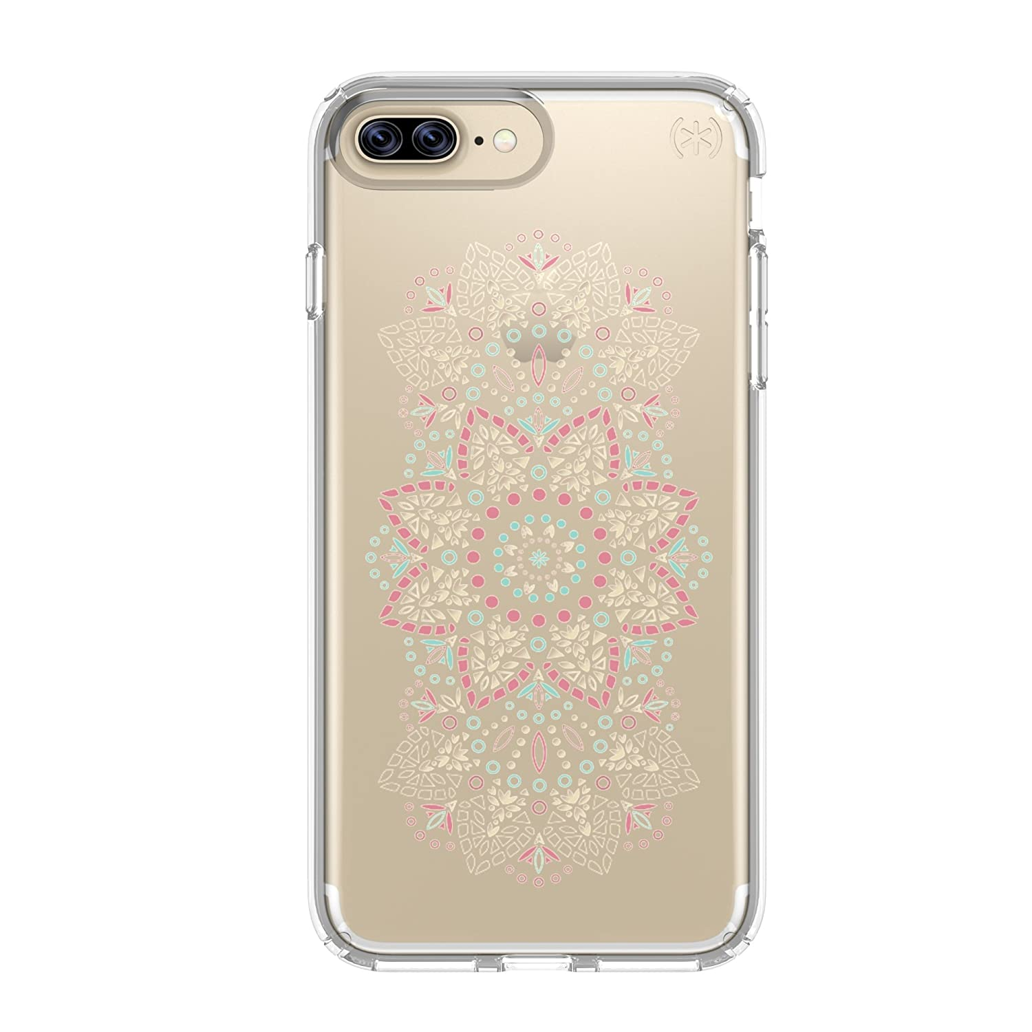 2c3b8996e0af Amazon.com  Speck Products Presidio Clear + Print Cell Phone Case for iPhone  7 Plus 6S Plus 6 Plus - Lace Mandala Pink clear  Cell Phones   Accessories