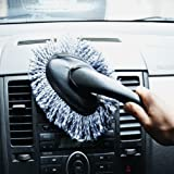 VWH Microfiber Car Dash Duster Car Interior Cleaning Home Use Dusting Brush (grey)