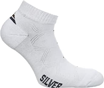 Silver Socks For Men - White