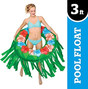 BigMouth Inc. Giant Hula Skirt Pool Float – Gigantic 3 Foot Pool Float, Funny Inflatable Vinyl Summer Pool or Beach Toy, Makes a Great Gift Idea, Patch Kit Included - Holds up to 200 lbs