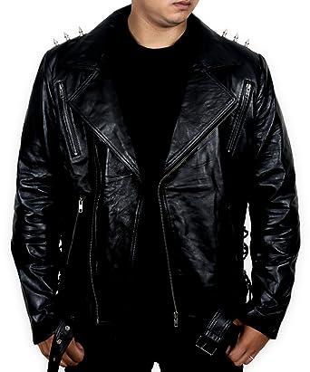 Ghost Rider Motorbike Leather Jacket w Metal Spikes