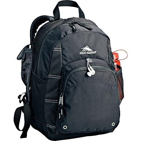 Amazon.com   High Sierra® Impact Daypack Backpack - Black   Hiking ... b86e8b8bf1