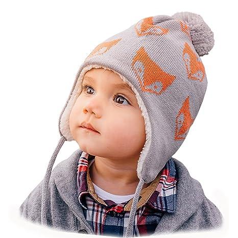 56f2b21c35b twinklebelle Baby Toddler Kids Fall Winter Ear-Flap Beanie hat (m  6-24  Months