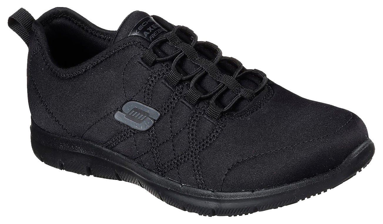 Skechers Work Women's Ghenter - Srelt Black Jersey Mesh/Trim Oxford