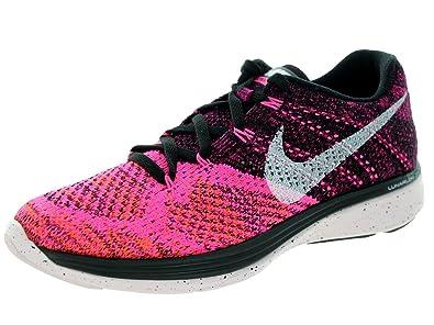 online store cd522 22130 NIKE Women s Flyknit Lunar3 Running Shoe (6 B(M) US, Black