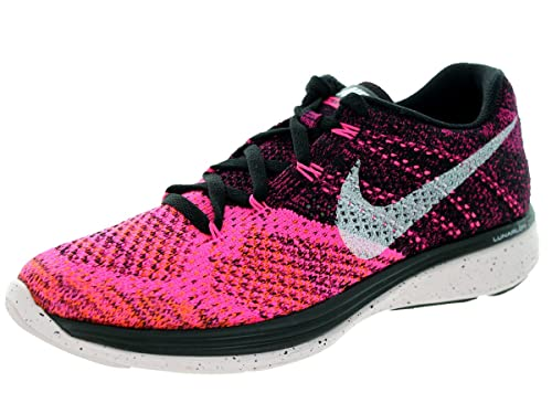 buy popular 8560d 9542d Nike Flyknit Lunar 3 Womens Sneakers 698182-002 Black White Pink Pow Ttl  Orng 6.5 B(M) US  Amazon.in  Shoes   Handbags