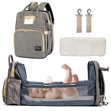 Amazon Com Happyluoka Panalera Mochila Para Siesta Y Bolso Cambiador Para Mama Baby