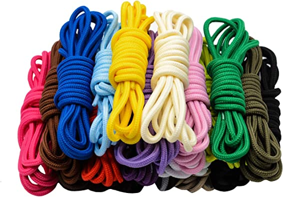 Round Thick Cord Shoe Laces Shoelaces 4mm All Colours /& Sizes Boot Laces Pairs