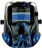 Expert Weld XWH7 9 - 13 Shades Lightning Auto Darkening Welding Helmet Plus Grind Function - Black