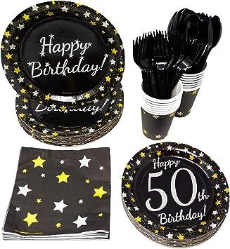 Amazon.com: Suministros para fiesta de 50 cumpleaños (65 ...