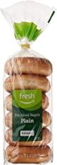 Fresh Brand – Plain Pre-Sliced Bagels, 21 oz (6 ct)
