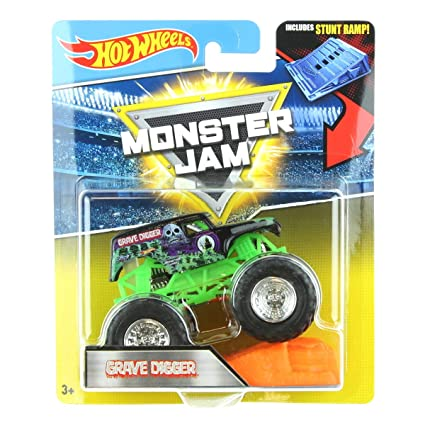 b7f8534c4f31 Image Unavailable. Image not available for. Color  Hot Wheels Monster Jam  1 64 Grave Digger includes Stunt Ramp 2017