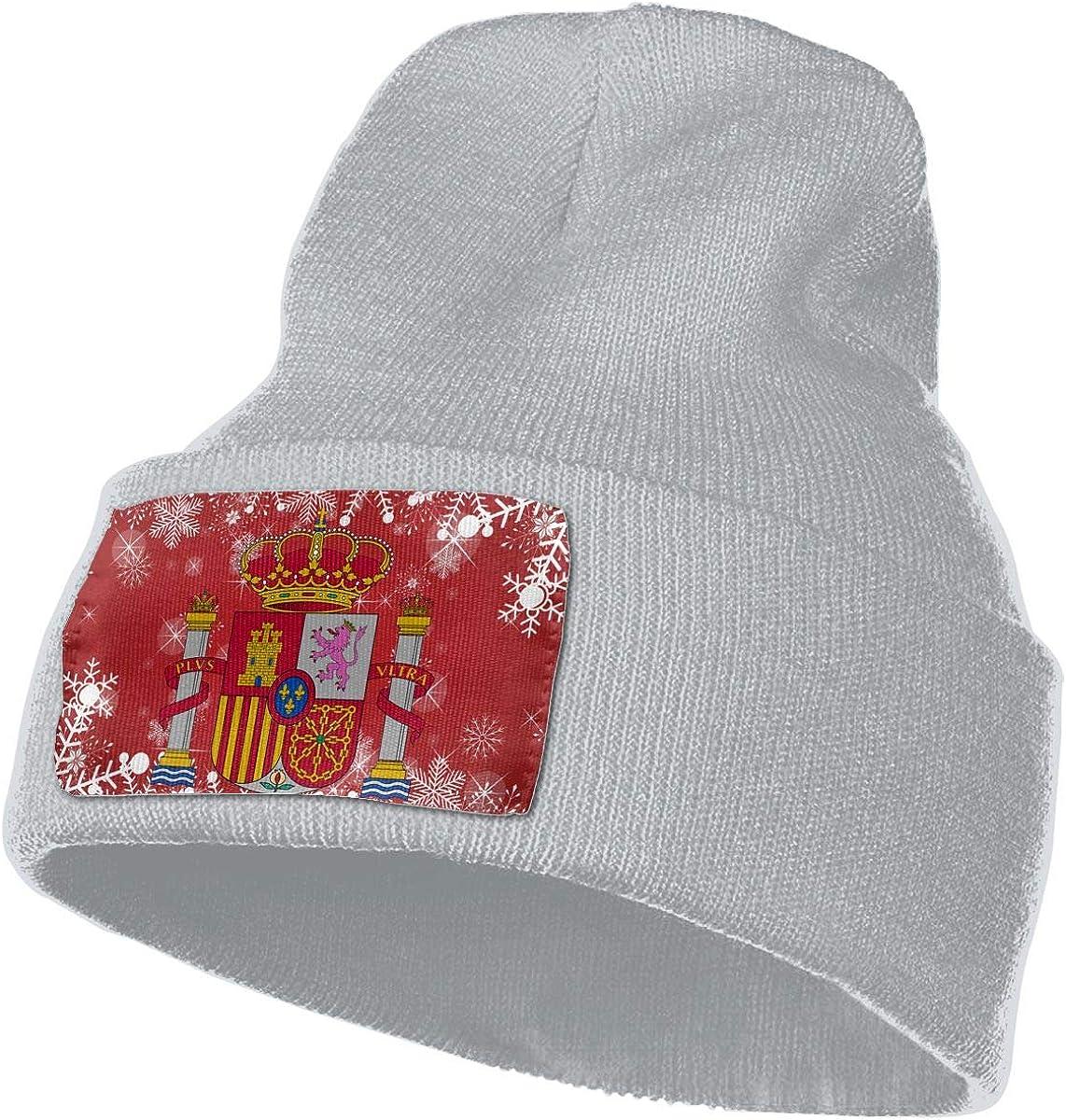 Spain Flag Men Women Knit Hats Stretchy /& Soft Skull Cap Beanie