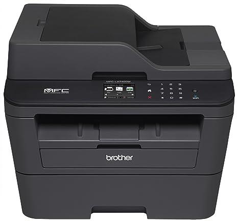 Brother MFC-L2740DW - Impresora multifunción láser Monocromo Compacto (WiFi, fax, Pantalla táctil, Doble Cara automática en Todas Las Funciones)