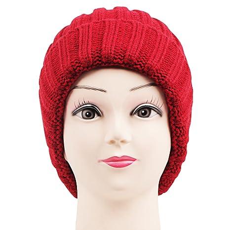 Bonjour Skull Cap   Red Caps   Hats