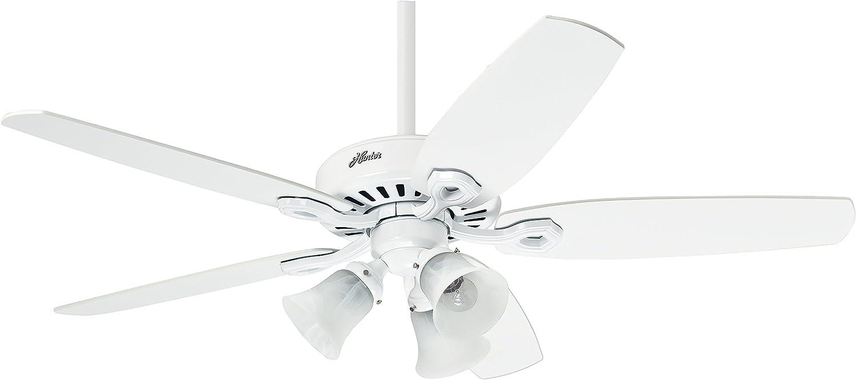 Hunter Fan Builder Plus Ventilador de techo con luz blanco E27, 14 W, 132 cm