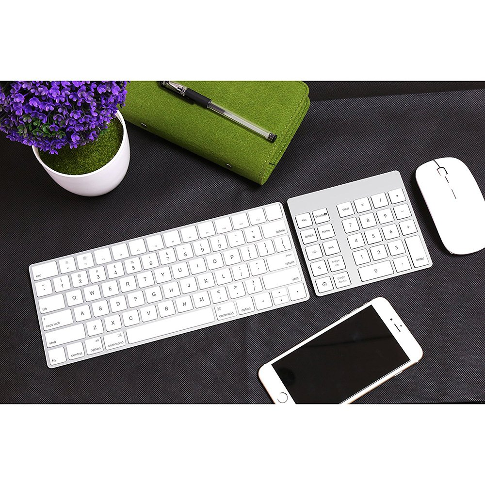 Cateck 28-Key Rechargeable Aluminum Bluetooth Wireless Keypad Number Pad Keyboard for iMac, MacBook Air, MacBook Pro, MacBook, and Mac Mini by Cateck (Image #6)