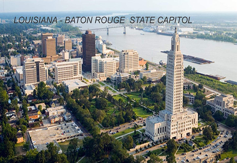 Louisiana USA United States Fridge Refrigerator Magnets (1 Piece, Style: Baton Rouge State Capitol #LOU3)