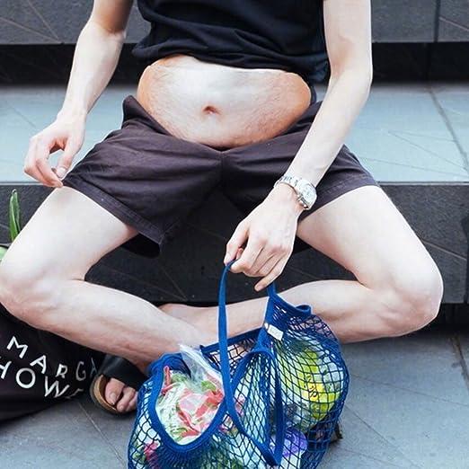 Meipai Novedad Divertida Hombres Mujeres Papá Papá BOD Cintura Bolsa Bolsas De Grasa Peluda Barriga Fanny Pack De Cerveza: Amazon.es: Deportes y aire libre