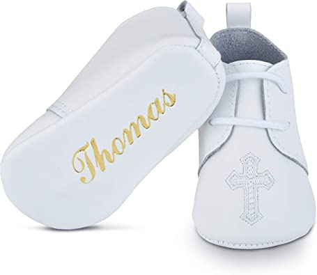 Baptism Leather Shoes for Baby Boys \u0026