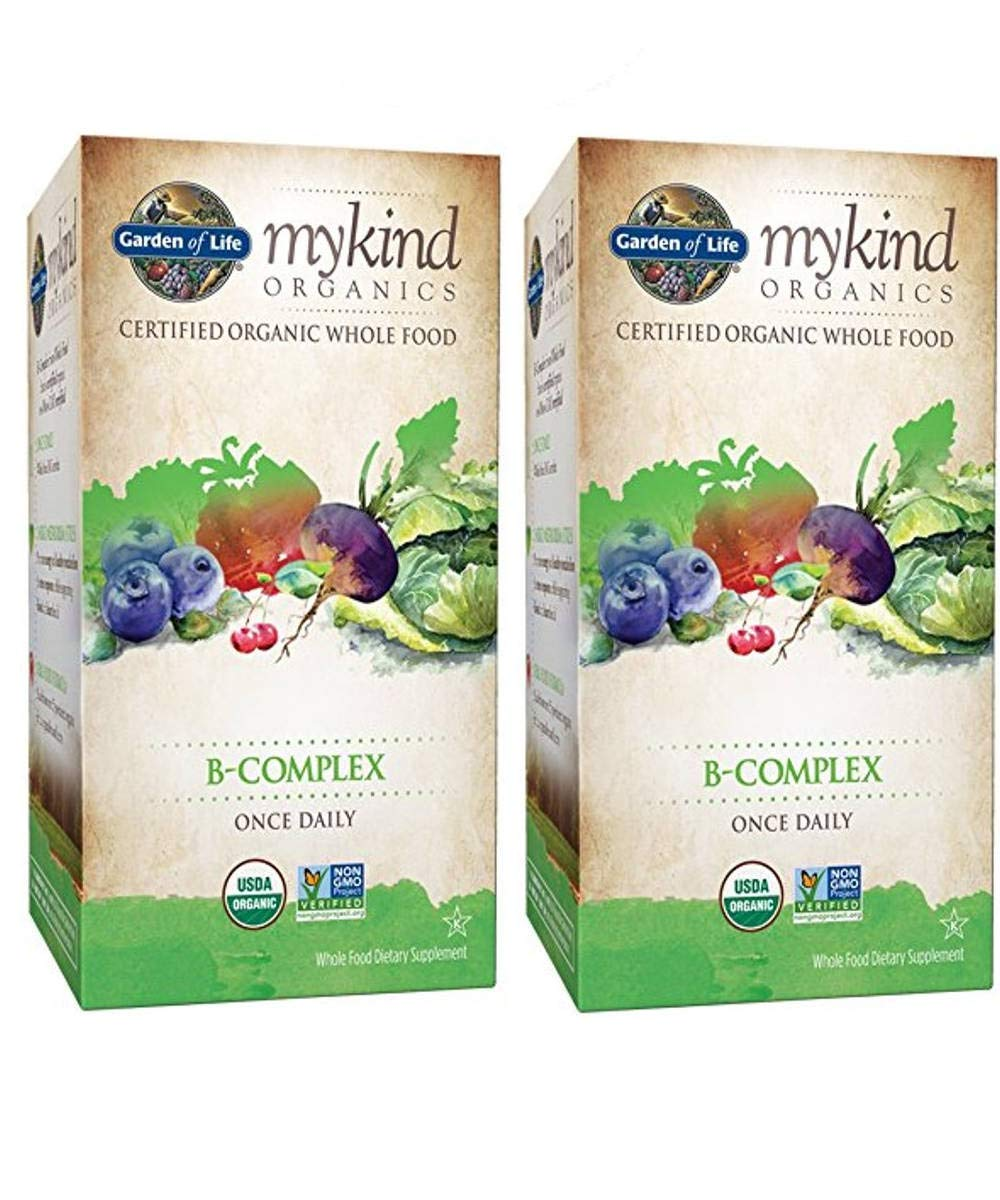 MyKind Organics B-Complex Once Daily Metabolism and Energy (30 Tablets, Pack of 2)
