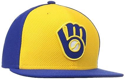 b2708eb53b6 Amazon.com   MLB Milwaukee Brewers Alternate Diamond Era 59Fifty ...