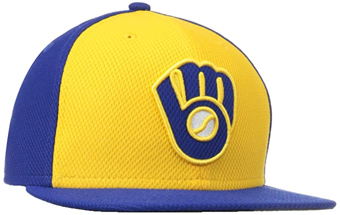 Sports Memorabilia, Fan Shop & Sports Cards sports memorabilia Milwaukee Brewers New Era Alternate Authentic On-Field 59FIFTY Fitted Hat-Royal