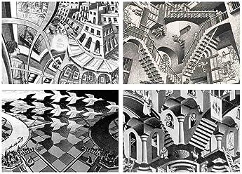 Set of 4Placemats Escher