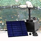 Solar Panel Power Fountain Garden Pond 180L/H Pump Kit With Filtering Sponge set
