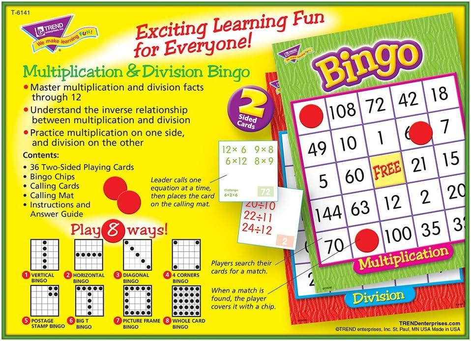 multiplication bingo game math multiplication manipulatives