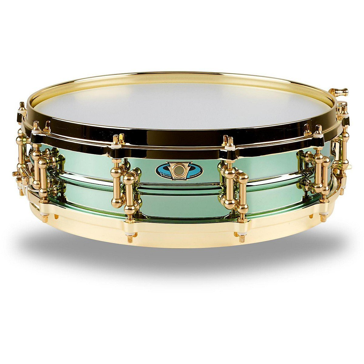 Ludwig LW0414CP 4 X 14 Inches Carl Palmer VENUS Signature Green Brass Snare Drum