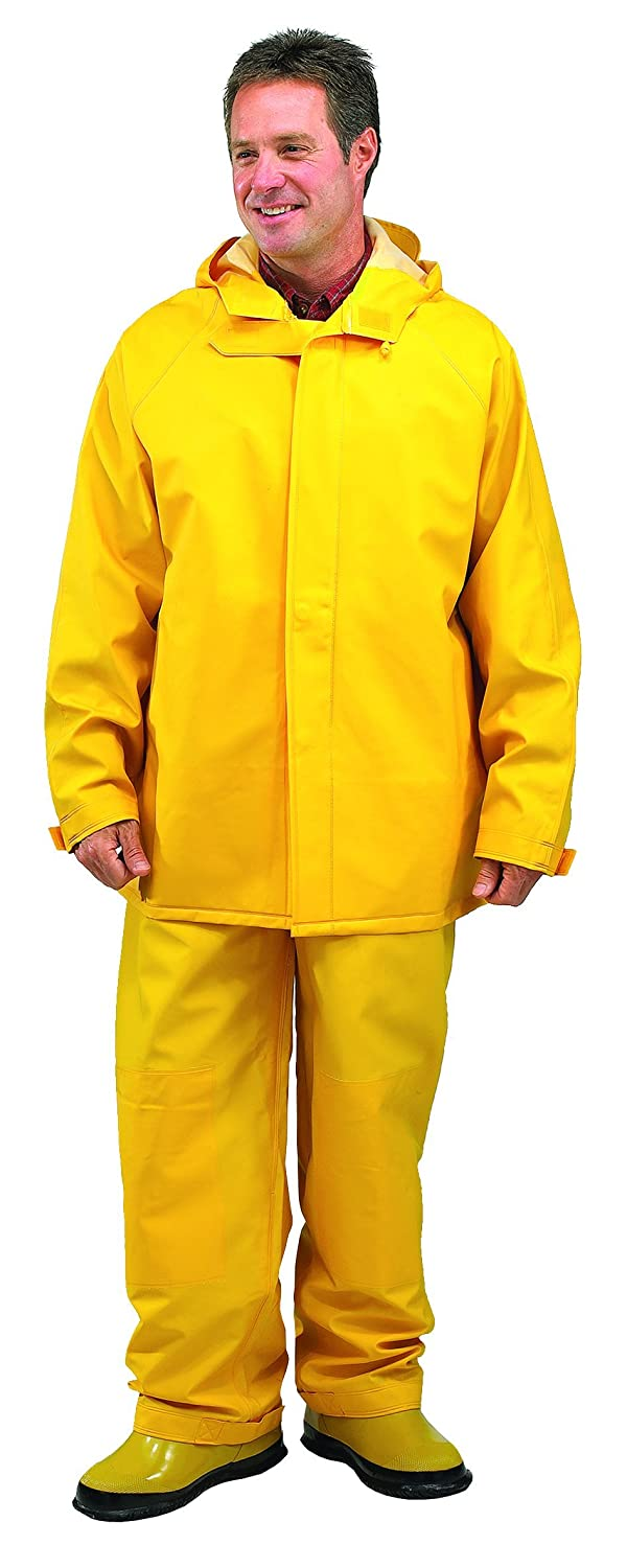 Yellow 4X-Large Galeton 7953-4XL-YW 7953 Repel Rainwear 0.50 mm PVC 2-Layer Rain Suit