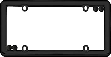 Cruiser Accessories 20650 Nouveau License Plate Frame Black w//fastener caps