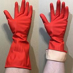 Amazon Co Jp 富士商 キッチン ロング ゴム手袋 水垂れしない ドリップストッピー 2双セット イエロー Sサイズ 9858 ホーム キッチン