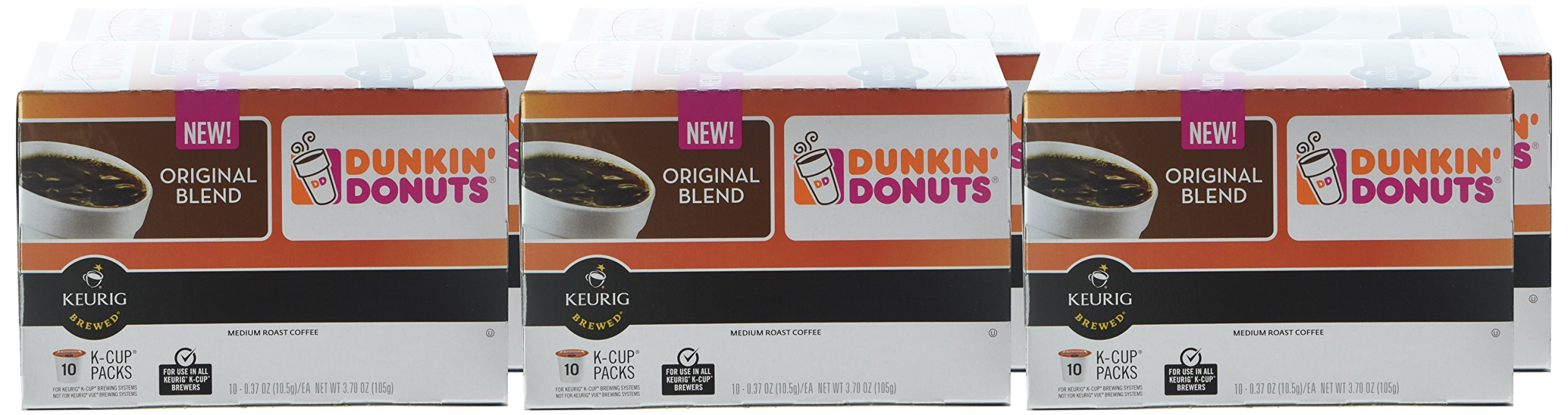 Dunkin' Donuts Original Blend Coffee for K Cup Pods, Medium Roast, For Keurig Brewers, 60Count by Dunkin' Donuts (Image #2)