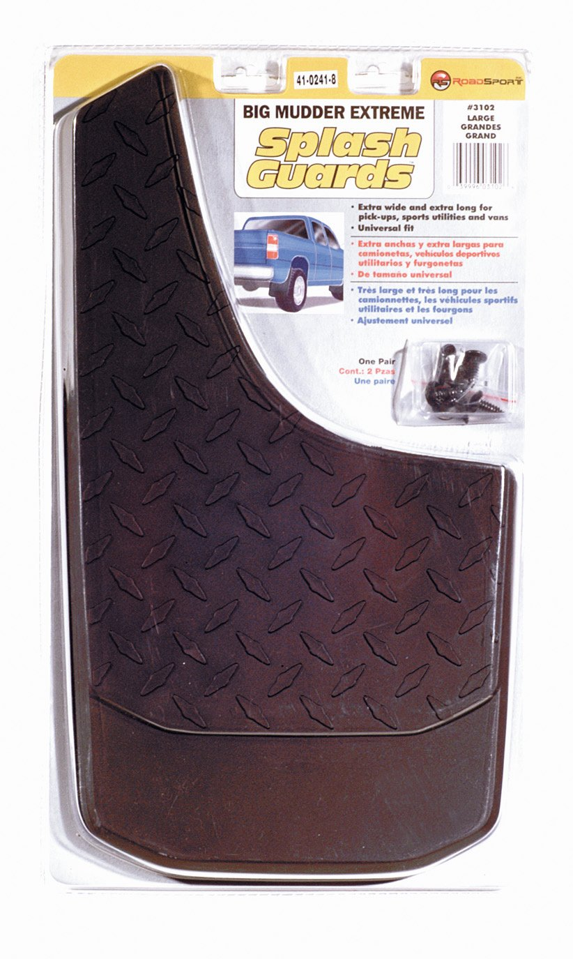 RoadSport 3102 Large Big Mudder Extreme Diamond Plate Design Rubber Splash Guard